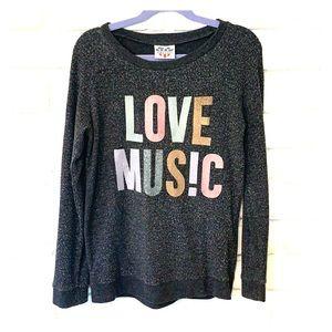 Love Music Sweatshirt by Juno Food
